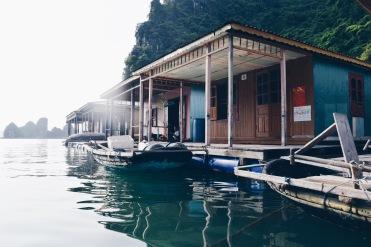 Floating village in Halon Bay
